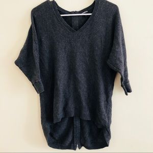 EXPRESS zip back high-lo sweater. NWOT